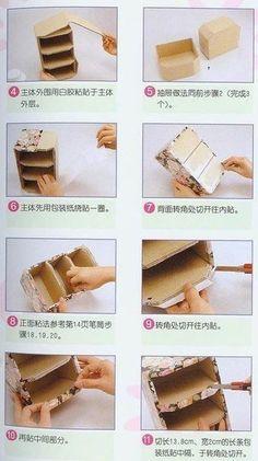 Картонные комоды своими руками. Сделать комод из картона |