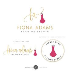 Boutique Logo Clothes Logo design Branding kit Red by GDLogoDesign