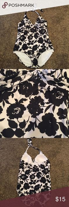 Black and white floral swimsuit Black and white floral swimsuit Target Swim One Pieces