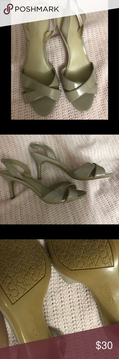 Calvin Klein Shoes Beige high heels worn once. Calvin Klein Shoes Heels