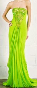 NeonGreen Long Dress