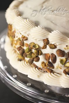 Carrot Pistachio Cake with Cream Cheese Frosting