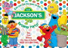 Sesame Street Invitation Sesame Street by Papel pintado
