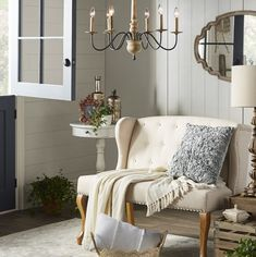 Get inspired with farmhouse, living room ideas and photos for your home refresh or remodel. Wayfair offers thousands of design ideas for every room in every style. Living Room Designs, Living Spaces, Living Rooms, Upholstered Bench, Wood Accents, Traditional Furniture, Furniture Making, Love Seat, Interior
