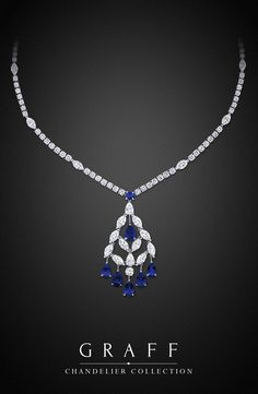 Graff Diamonds: Chandelier Necklace with sapphires in platinum