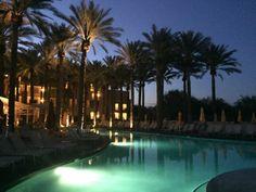 One of JW Marriott Desert Ridge's Pools at Night