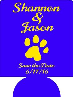 save the date LSU Wedding koozies favors Can Coolers 12914007