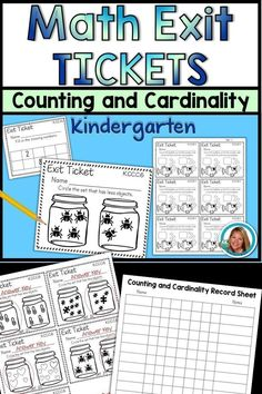 I love using exit tickets with students before they leave my room to check for understanding. It is a quick way to see if my information got through to them. If not, I can quickly see who needs to have little one on one remediation on a skill. Counting