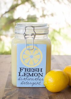 fresh lemon homemade dishwasher detergent, cleaning tips, diy, go green, homesteading
