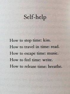 How to help yourself and manage time: self help, meditation or reading - this page is peaceful enough