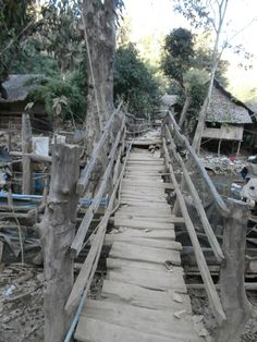 The bridge we walked across in the refugee camp