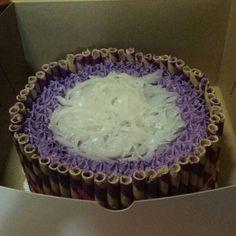 Ube cake #purpleyamcake #cakes #cake #ubecake #ubemacapunocake #party