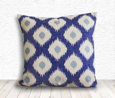 Ikat Pillow Cover Pillow Cover Pillow Case Linen by 5CHomeDecor, $14.99
