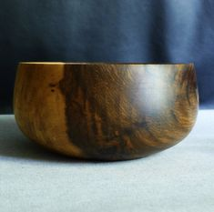 Two Tone Dark Walnut Wood Bowl. Dark Walnut, Walnut Wood, Wood Creations, Wood Bowls, Succulent Pots, Salad Bowls, Handmade Wooden, Beautiful Hands, Safe Food