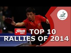 DHS Top 10 - The Best Table Tennis Rallies of 2014 - YouTube