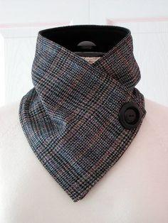 Unisex // Wool Plaid & Fleece Neckwarmer // Cowl Scarf // Glen