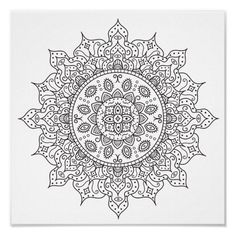 Spend some time relaxing with this coloring page for adults. Once  finished, you can hang it on your wall or give it as a gift. Coloring is  known to reduce tension and stress, so get started on de-stressing with  this piece of art. #zazzlemade #coloring #coloringpage #coloringforadults #quarantine Canvas Art Prints, Canvas Wall Art, Crayon Painting, Get Well Gifts, Lake Erie, Cleveland Ohio, Silk Road, Flower Mandala, Artist Gallery