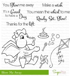SugarPea Designs BLOW ME AWAY Clear Stamp Set SPD00009 Preview Image