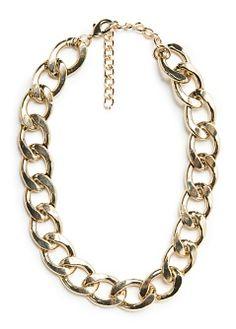 Brazalete metálico cadena - Bisutería de Mujer | MANGO