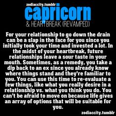 Wow! So true about the Capricorn and relationships.