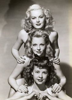 1940s-one was a brunette, one a redhead, and one a blonde in this ad, so my girlfriends and I pretended that they were us when we got a little older.