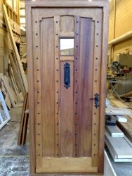 Special commission- shaped and studded door
