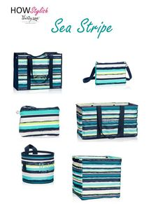 Sea Stripe -- Spring 2015 Thirty-One.  Created by HOWStylish, independent consultant.