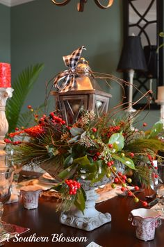 A Southern Blossom: Woodland Christmas Tablescape