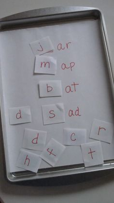 Read and Spell Magnet Board