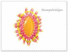 °°BeeBoB°°Ring,bunt,pink,orange,grün,verstellbar+von+°°FineArtBead°°+auf+DaWanda.com