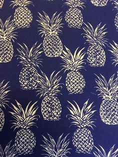 Your place to buy and sell all things handmade Pineapple Backgrounds, Architectural Pattern, Pineapple Fabric, Aboriginal Art, Pattern Art, Clip Art, Hawaiian, Quilting, Navy Blue