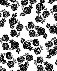 Papier Fabrik: black and white roses