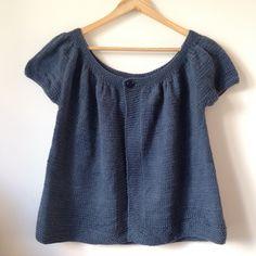 Modèle gratuit de gilet tricoté : Lady Kina en laines de la !filature du Valgaudemar
