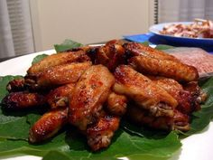 Vietnamese Baked Hoisin Glazed Chicken Wing Recipe (Canh Ga Nuong Tuong)