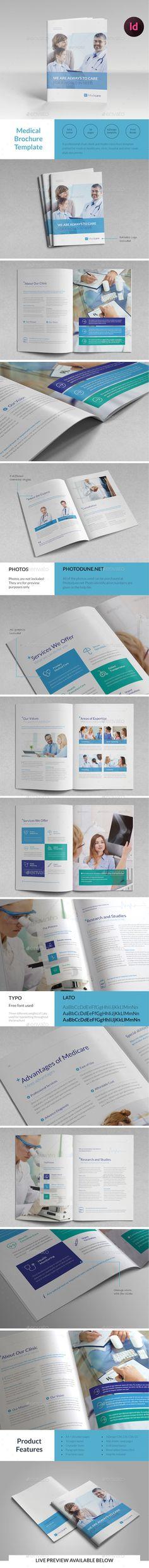 Medical Brochure Template InDesign INDD. Download here: http://graphicriver.net/item/medical-brochure-template/15249716?ref=ksioks