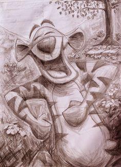Tigger sketch by Andy Fling