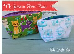 Jedi Craft Girl: My Favorite Zipper Pouch {tutorial} - includes perfect instructions for keeping zipper tab ends neat and tidy