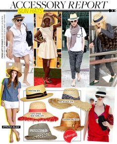 Celebrities who love straw hats.