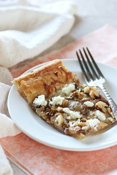An easy appetizer recipe for pear, walnut and goat cheese tart. With a ...