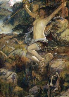 Diana of the Hunt by John Byam Liston Shaw :: artmagick.com