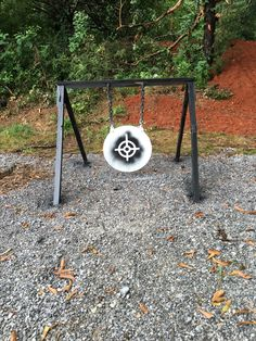 This is my 400 yard AR500 gong I use for rifles.  The stencils and steel target paint I bought at https://rainbowtechstore.com/collections/shooting-range