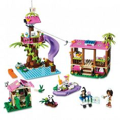 """LEGO Friends Jungle Rescue Base - LEGO - Toys """"R"""" Us. It will probably take a while to build though. Lego City, Legos, Lego Friends Sets, Friends Series, Little Panda, Lego Instructions, Toys R Us, Jouer, Christmas Wishes"""