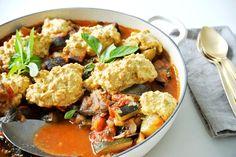 Ratatouille-Cobbler: die ideale Grill-Begleitung Ratatouille, Cobbler, Kung Pao Chicken, Curry, Pork, Ethnic Recipes, Sweet, Beide, Kitchens