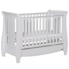Tutti Bambini Katie White Sleigh Cot Bed | Dunelm