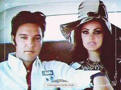 Elvis Presley Priscilla Car - Vintage eCard