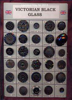 Victorian black glass buttons