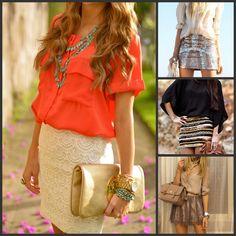 Flowy Blouse + Skirt {Beaux & Belles blog}