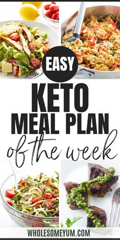 Freshen up your Easy Keto Meal Plan menu this week with some clean keto favorites! Enjoy Caesar Salad with Parmesan crisps, Zucchini Noodle Salad, Steak Bites, and Cabbage Stir Fry. Feel free to add or subtract any meals with the handy drag and drop function in the app. This makes customizing your weekly menu super simple. Once you are ready to print out your week, your meal plan includes all the recipes, grocery lists, and meal prep tools you need to make your meals work for you…