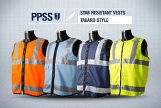 PPSS Tabard Style Stab Resistant Vests for public facing organisations