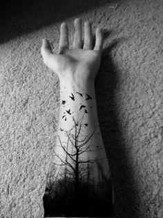 Wrist tree tattoo